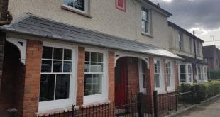 Hardwood sash windows in Buckinghamshire home