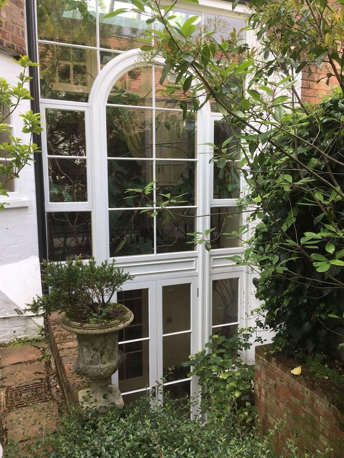 Kensington hardwood window in London