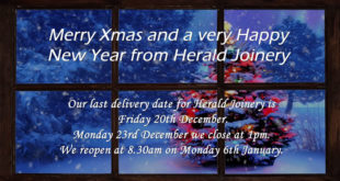 Herald Joinery at Christmas